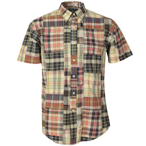 Košile Ralph Lauren Mens Custom Fit Short Sleeve Madras Check Shirt Multi colour