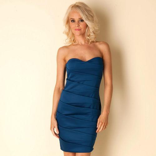 Šaty Womens Bandeau Dress Navy