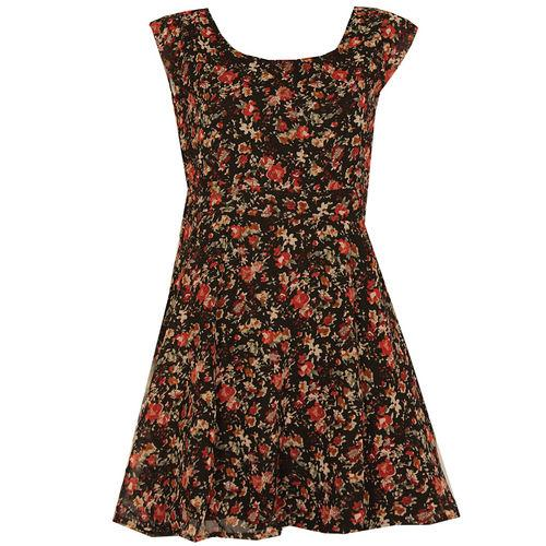 Šaty Womens Floral Dress Black