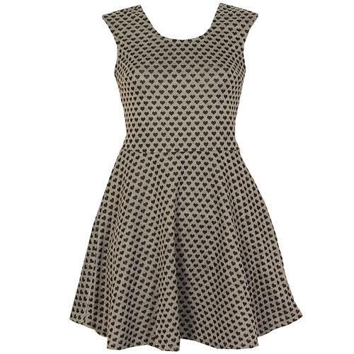 Šaty Womens Heart Dress Grey