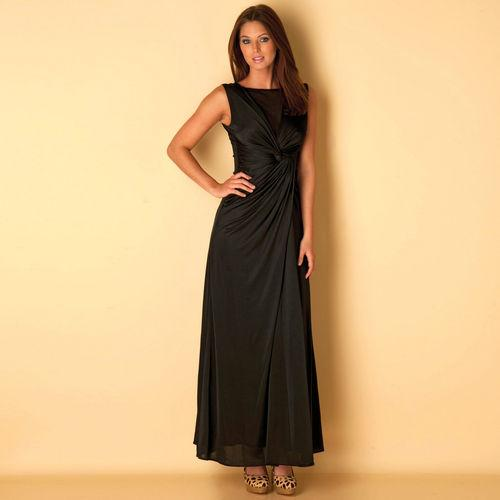 Šaty Womens Maxi Dress Black