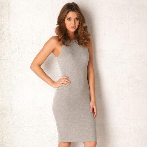 Šaty Womens Midi Dress Grey Marl