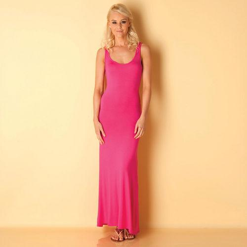 Šaty Te Amo Womens Scoop Back Maxi Dress Cerise