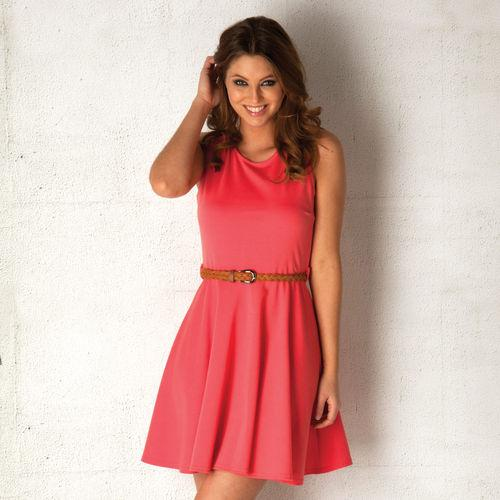 Šaty Clubl Womens Skater Dress Coral
