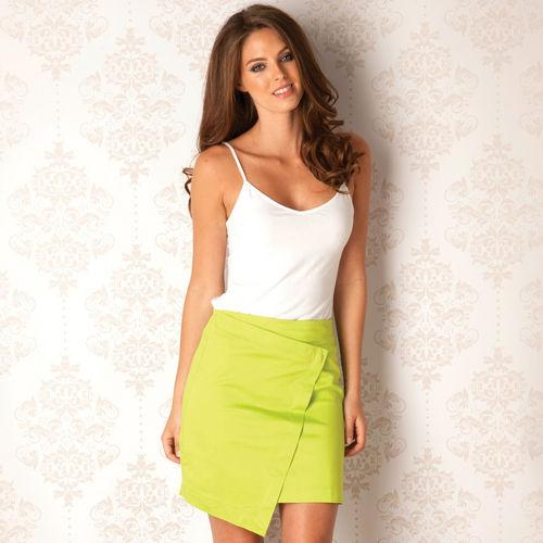 Sukně Ax Paris Womens Slanted Skirt Lime