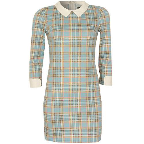 Šaty Womens Tartan Dress Blue