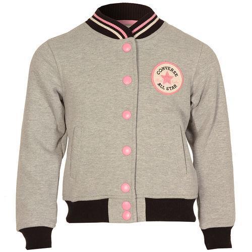 Converse Infant Girls Baseball Jacket Grey