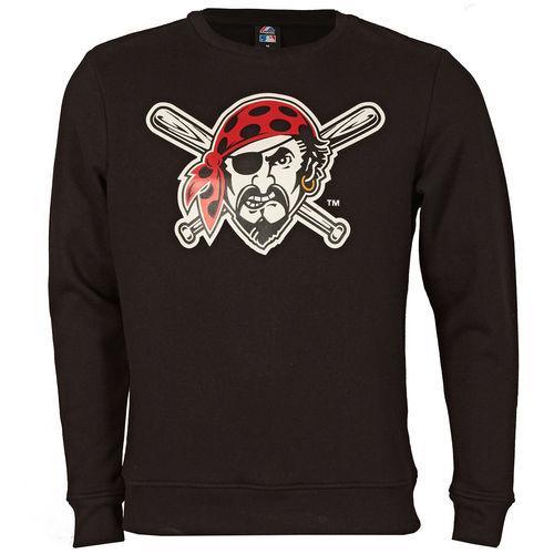 Mikina Majestic Mens Pittsburgh Pirate Crew Neck Sweatshirt Black