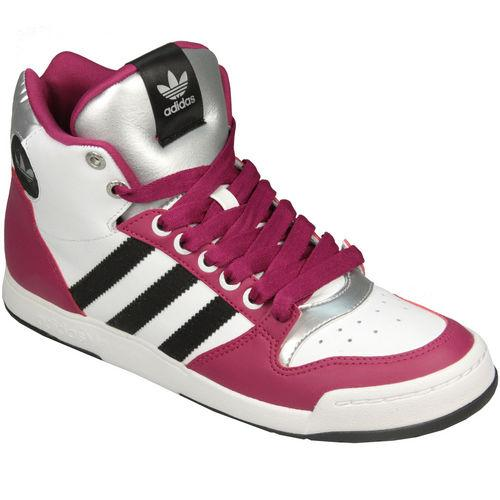 Boty Adidas Originals Womens Midiru Court Mid W Trainers White pink