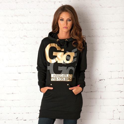 Mikina s kapucí Gio Goi Black