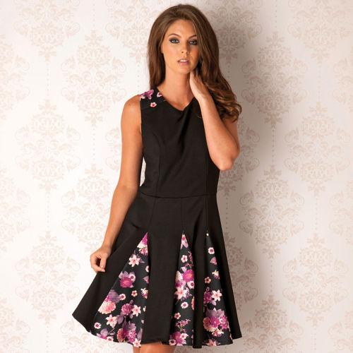 Šaty Womens Trumpet Dress Floral