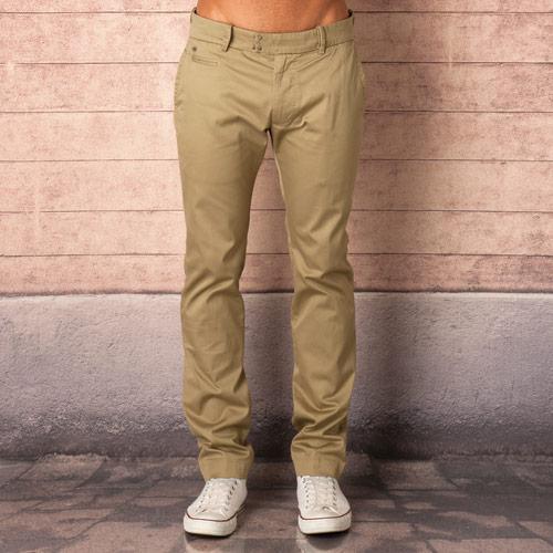 Kalhoty Diesel Mens Chi Slim Fit Pants Beige, Velikost: 10 (S)
