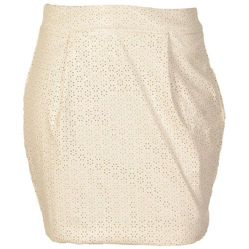 Sukně Little Mistress Womens Faux Leather Laser Cut Out Skirt...