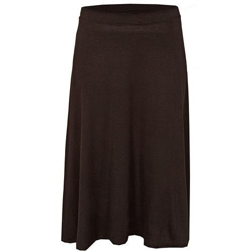 Sukně Te Amo Womens Midi Swing Skirt Black