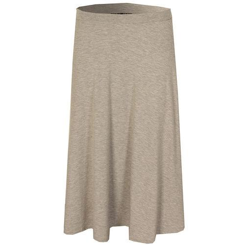 Sukně Te Amo Womens Midi Swing Skirt Grey Marl