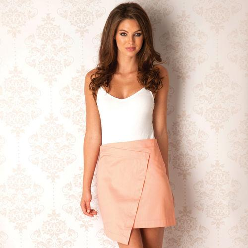Sukně Ax Paris Womens Slanted Skirt Peach
