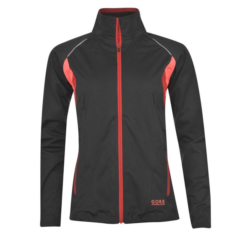 Bunda Gore Sunlight GORE TEX Jacket Ladies Black/Ruby Red, Velikost: 8 (XS)