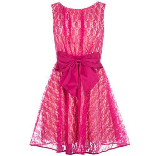 Šaty Womens Bow Dress Cerise