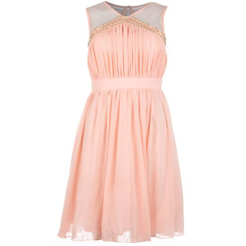 Šaty Womens Embellished Dress Peach