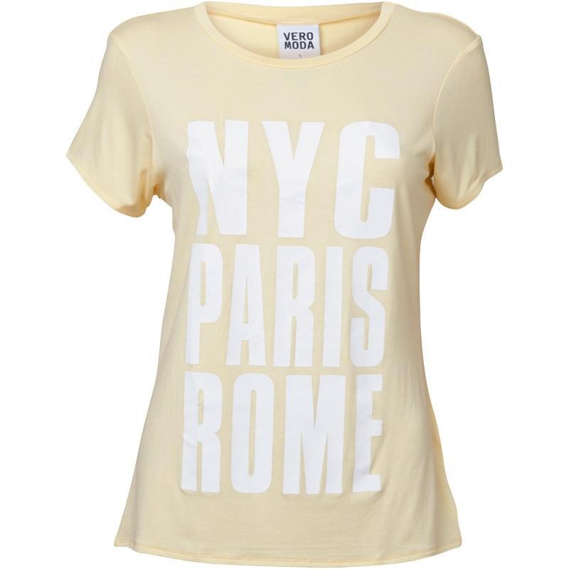 Vero Moda Womens NYC T-Shirt Tender Yellow