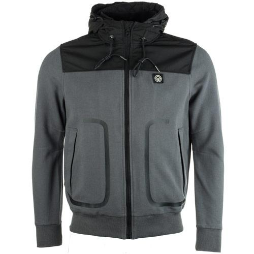 Mikina Duck And Cover Mens Sandor Hoody Charcoal