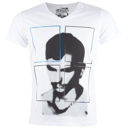 Tričko Diesel Mens Nuchaku T-Shirt White