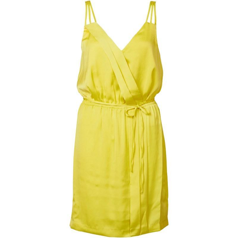 Šaty Vero Moda Womens Susi SL Short Dress Green Sheen