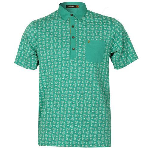 Farah Mens The Mayer Retro Circle Polo Shirt Mint