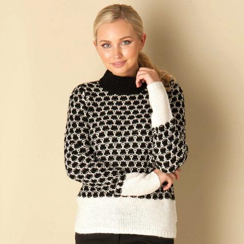 Svetr Vero Moda Womens Leora Knit Black