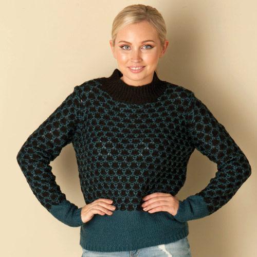 Svetr Vero Moda Womens Leora Knit Blue