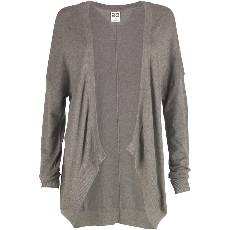 Svetr Vero Moda Womens Dania Oversize Cardigan Medium Grey Melange