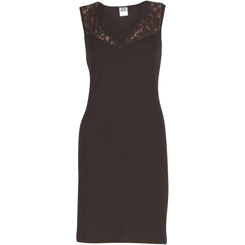 Šaty Vero Moda Womens Vanna Lace Short Dress Black