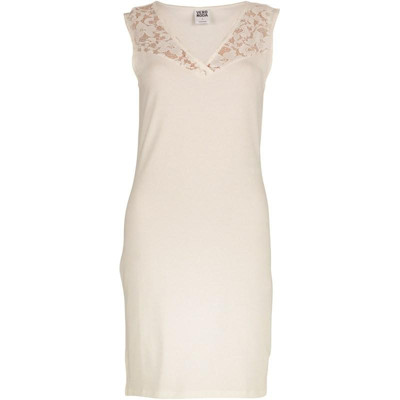 Šaty Vero Moda Womens Vanna Lace Short Dress Snow White