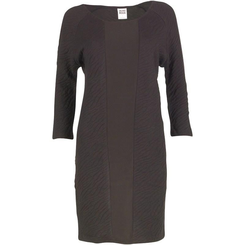 Šaty Vero Moda Womens Zebra Short Dress Black