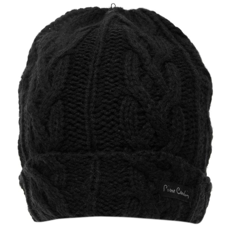 Pierre Cardin Knit Beanie Hat Black