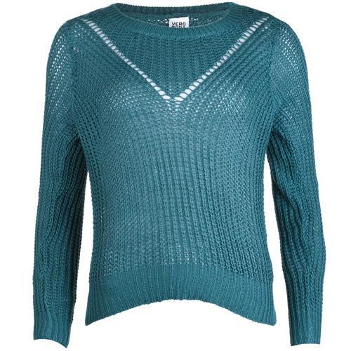 Svetr Vero Moda Womens Alba Jumper Turquoise