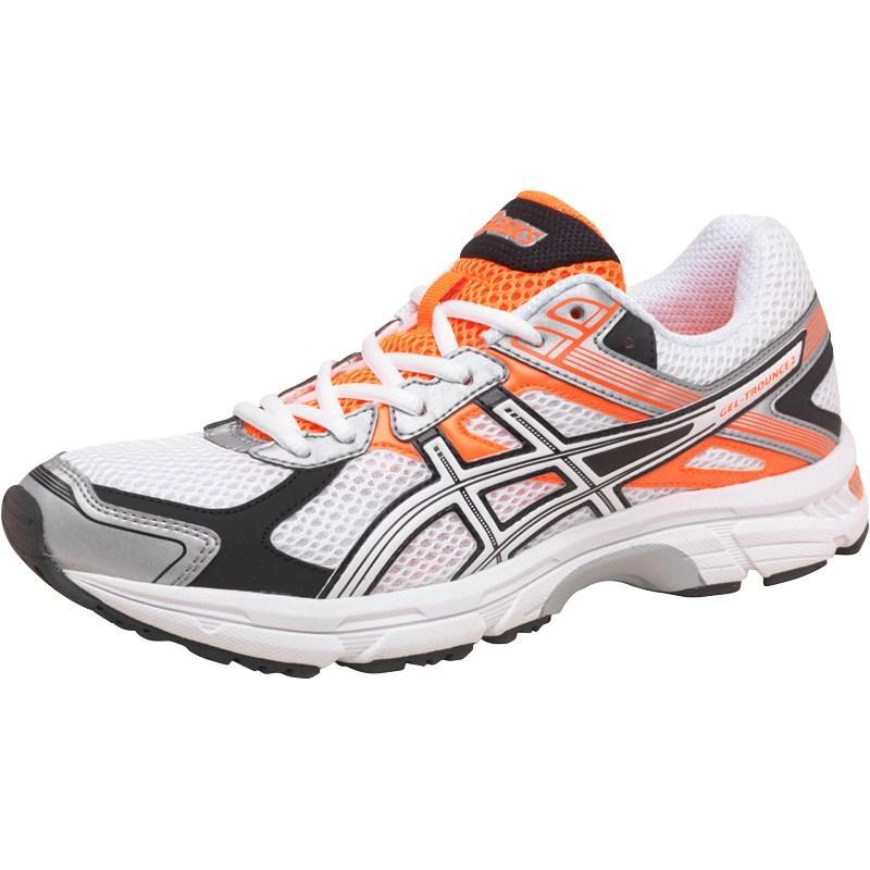 Asics Mens Gel Trounce 2 Light Stability Running Shoes White/Snow