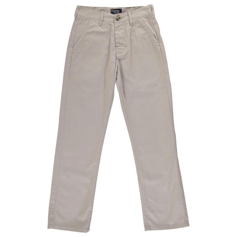 Kalhoty Kangol Chino Juniors Light Ash Grey