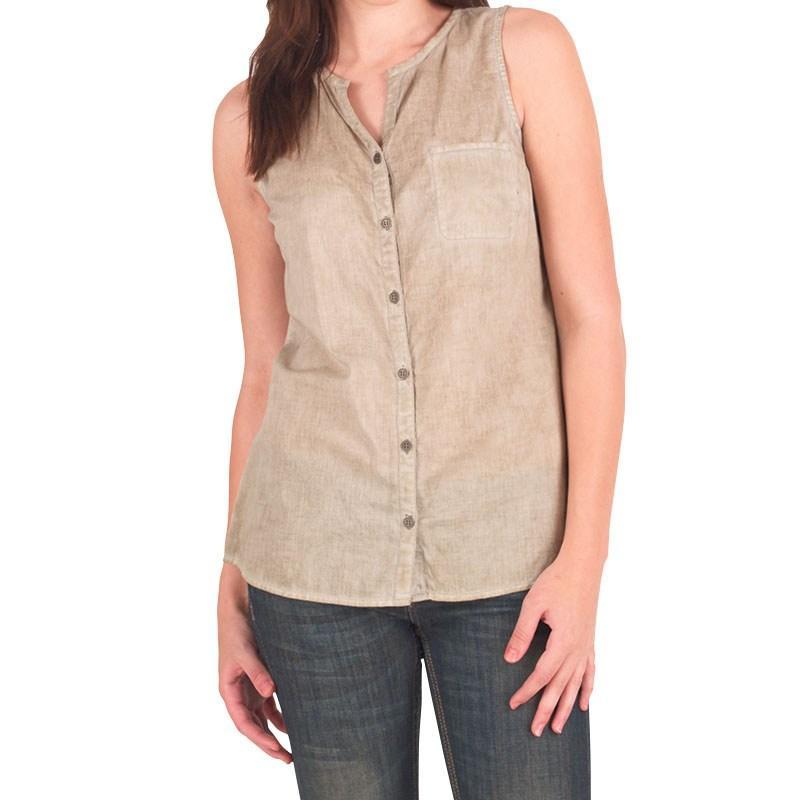 Vero Moda Womens Washed Shirt Moor Rock