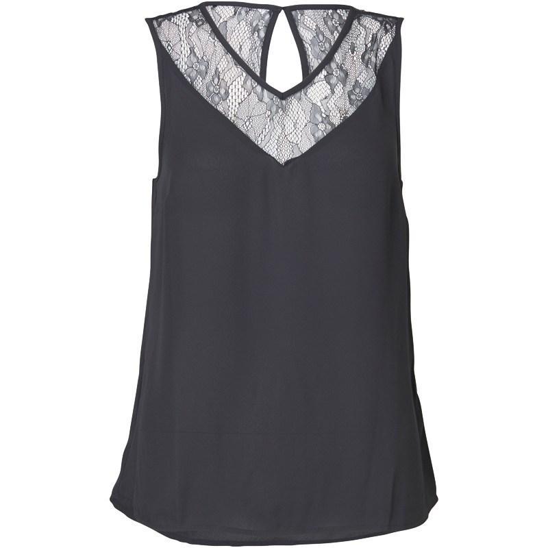 Vero Moda Womens Lori Lace Top Black