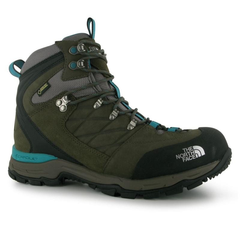 Boty The North Face Verbera GTX Ladies Walking Boots Brown/ Green
