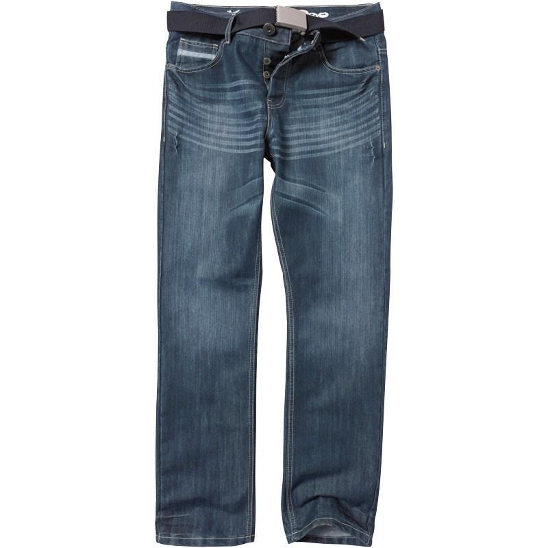 Kangaroo Poo Mens Furio 2 Jeans Stonewash