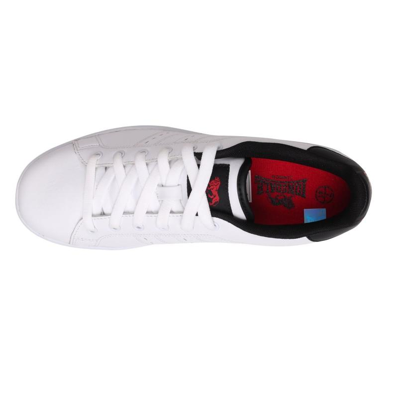 Boty Lonsdale Leyton Leather Mens Trainers White/Navy