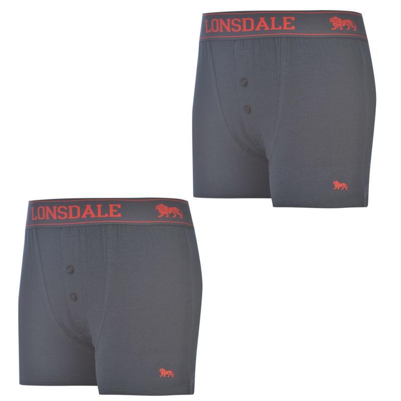 Bunda Lonsdale 2 Pack Boxers Junior Fluo Pink/Black