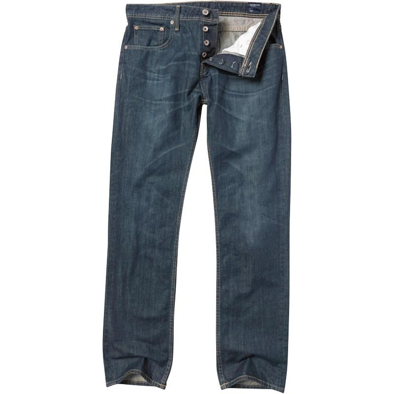 Duck and Cover Mens Silver Red Fit Jeans Green Cast