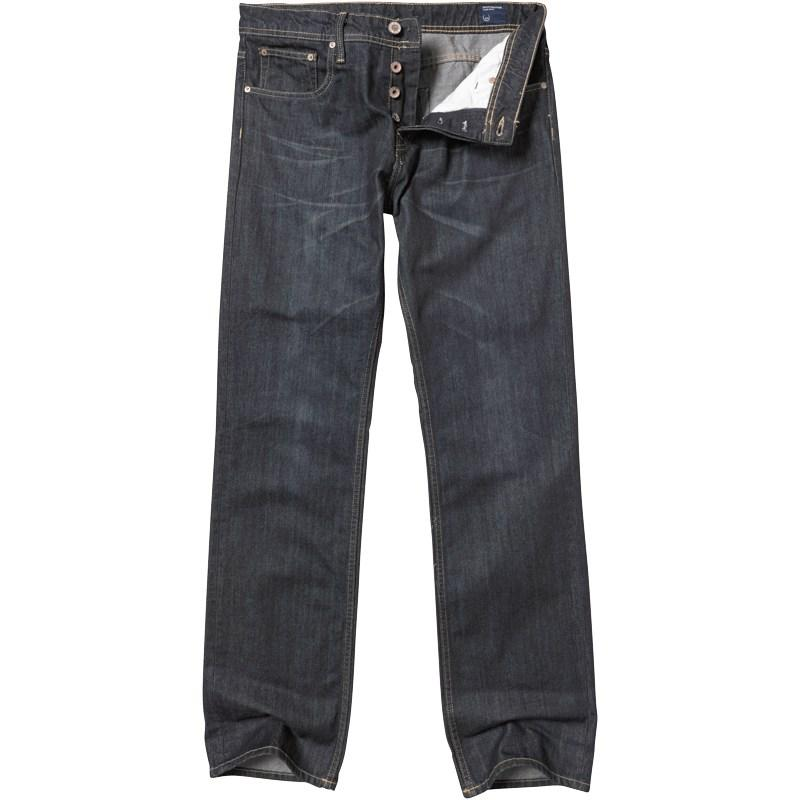 Duck and Cover Mens Zinc Easy Fit Jeans Blue Denim