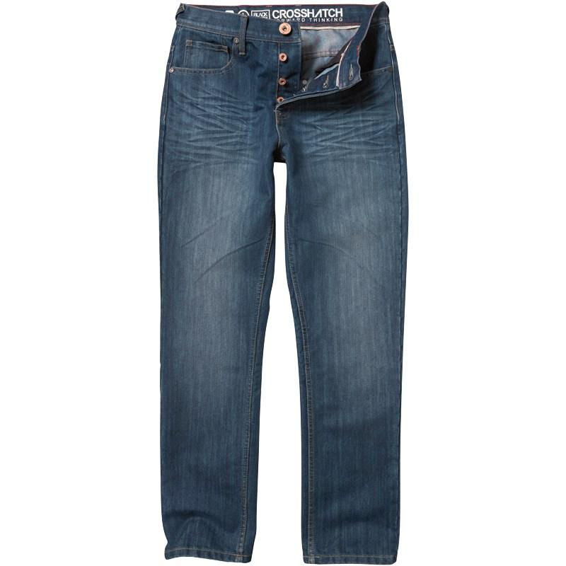 Crosshatch Mens Columbo Jeans Darkwash
