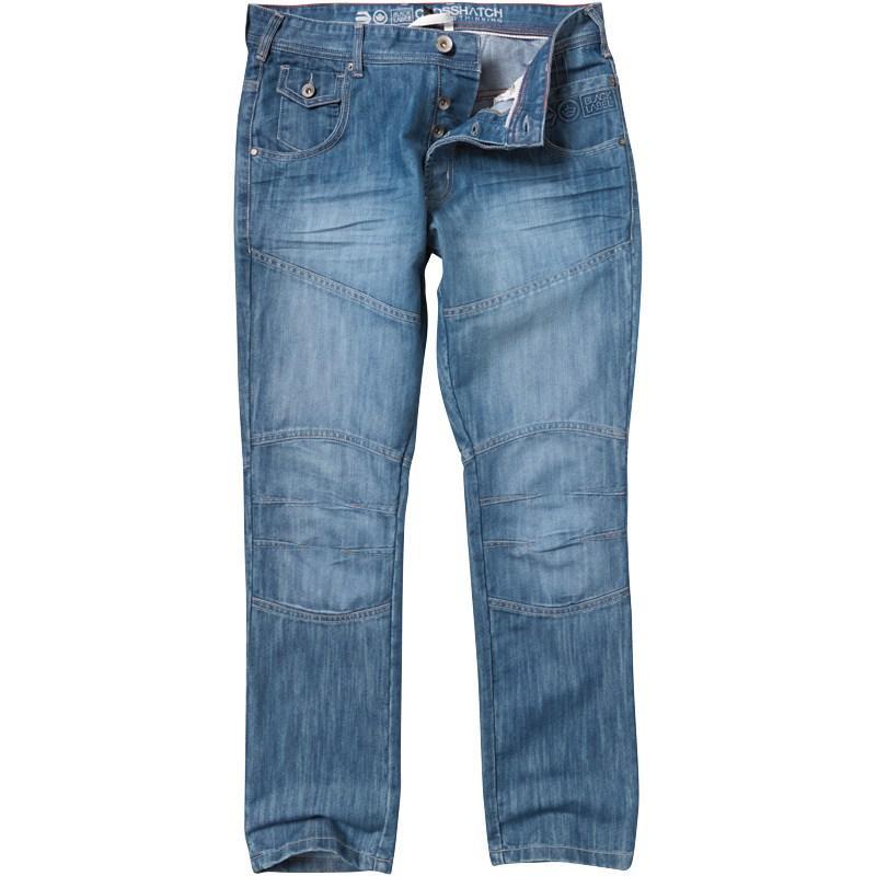 Crosshatch Mens Newport Jeans Lightwash