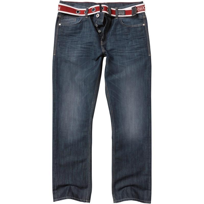 Crosshatch Mens Oaklahoma Jeans Darkwash
