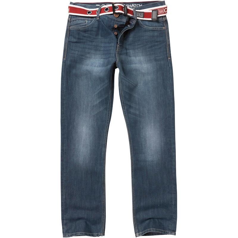 Crosshatch Mens Oaklahoma Jeans Stonewash